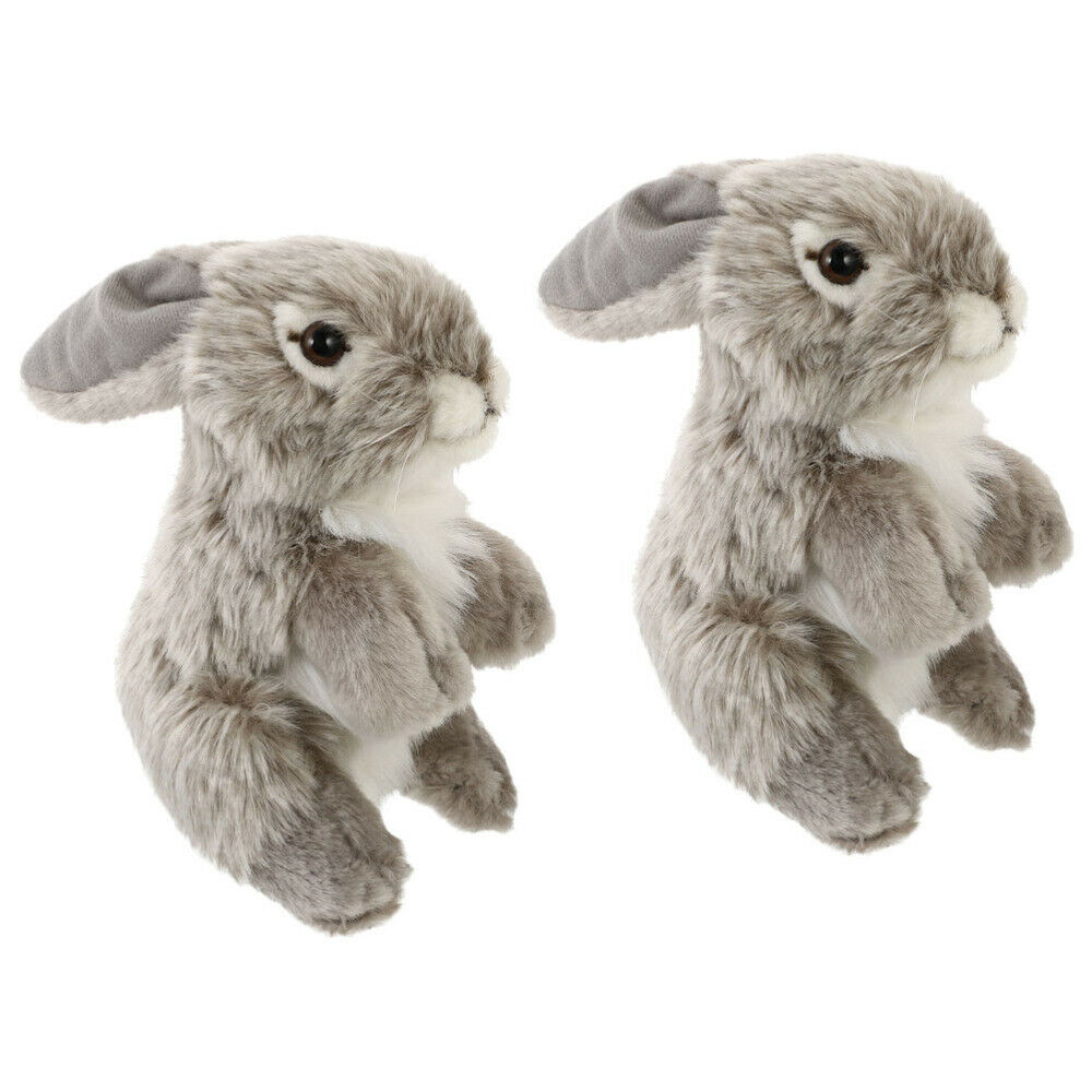 2Pcs Lovely Rabbit Toy Bunny Plaything Plush Plaything for Home Displaying