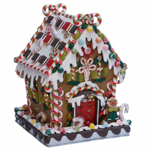 13 25 Gingerbread Kisses Lighted Cookie And Candy House Christmas