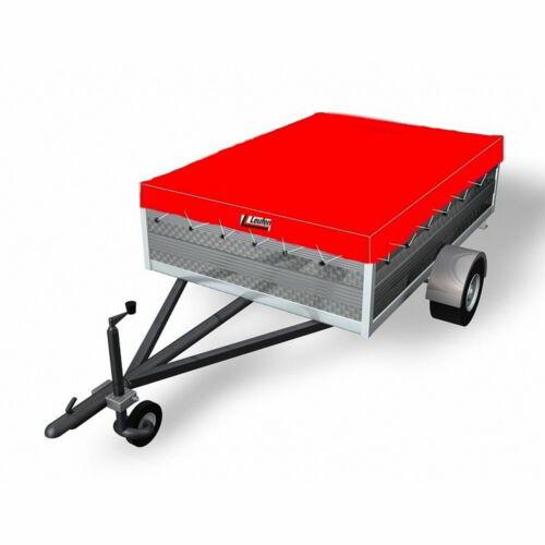 für Stema HP500 Anhängerplane nach Maß Flachplane Anhänger mit Gummiseil z.B