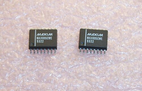 QTY 10 MAX695CWE  MAXIM SOIC-16W MPU SUPERVISORY CIRCUIT NOS