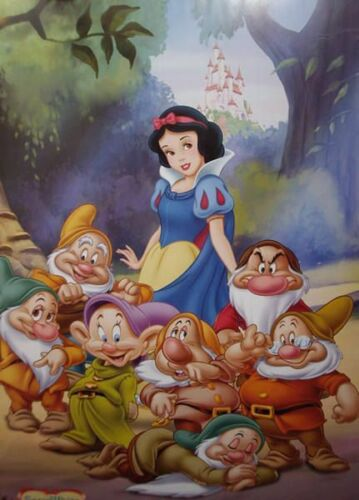 Disney/'s/_Snow White /& Seven Dwarfs.Blue/_Cross Stich Pattern