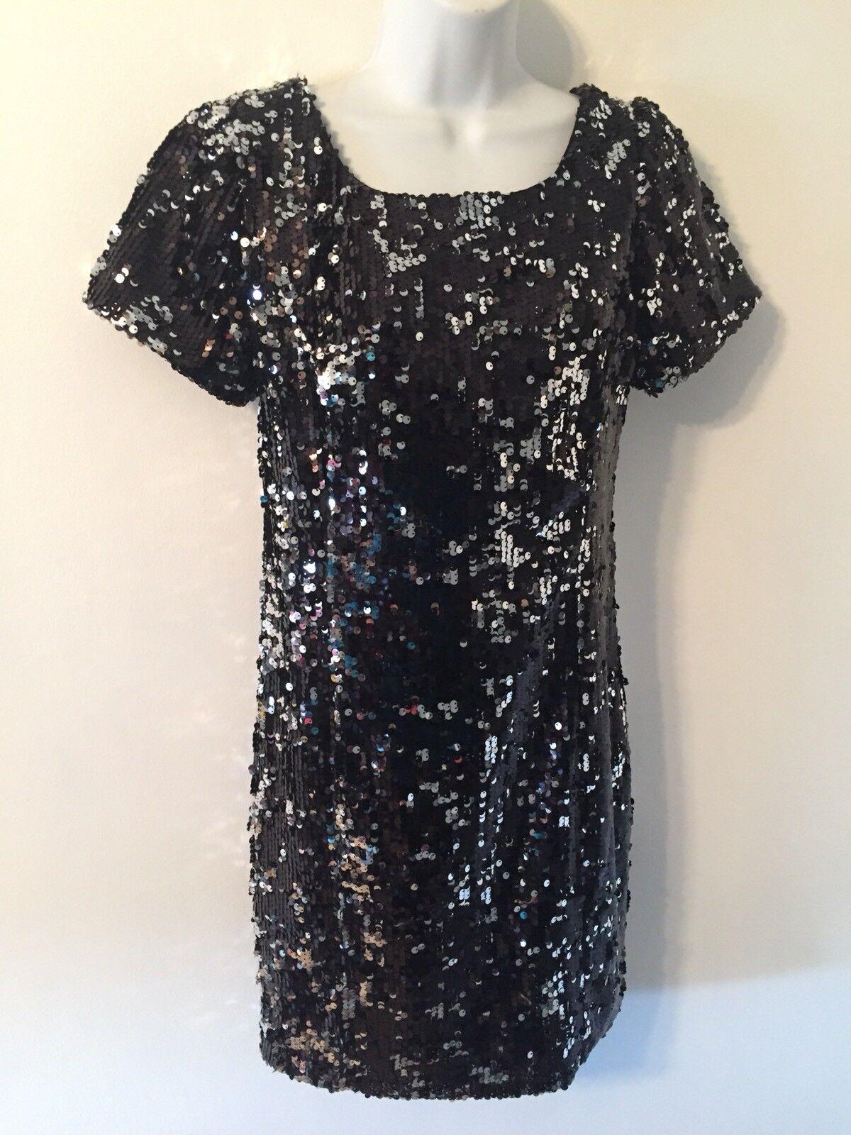 Milly of New York schwarz Formal or Cocktail Dress Sequined Größe Medium J10