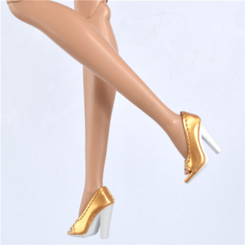 Gold shoes for Fashion royaltyⅡ FR2 Nu Face 2 doll integrity toys Rough root