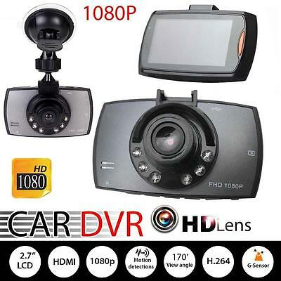 HD 1080P Car DVR Vehicle Camera Video Recorder Dash Cam G-sensor Night Vision PK