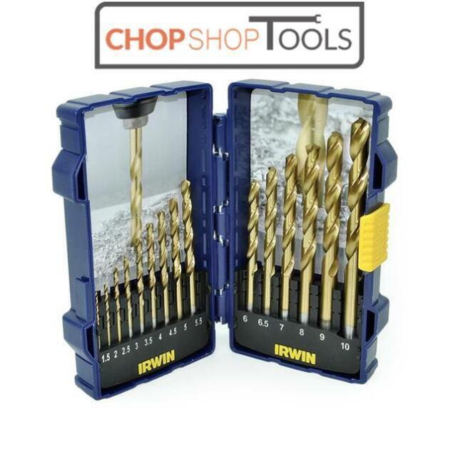 Irwin HSS Titanium Coated Jobber Drill Bit Set 15 PIECE 1.5mm - 10mm IRW10503991