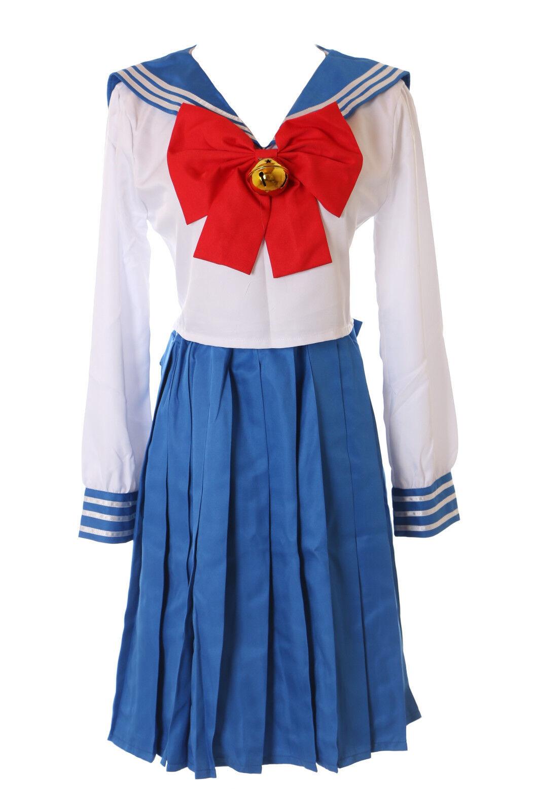 MN-76 Sailor Moon Usagi Bunny blau weiß Japan Schuluniform 5-TLG. Set Cosplay     | Die Königin Der Qualität