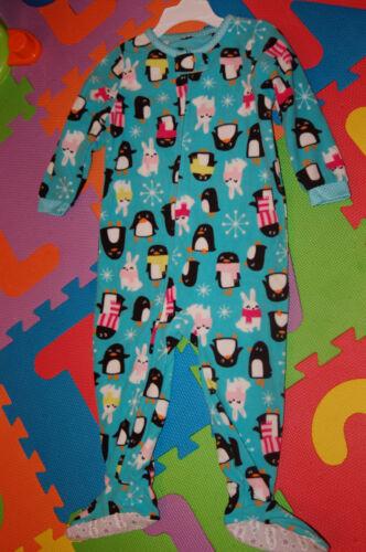 NWT Carter/'s girls fleece footed pj/'s