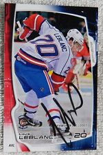 Montreal Canadiens Louis Leblanc Signed 11/12 Hamilton Bulldogs Card Auto