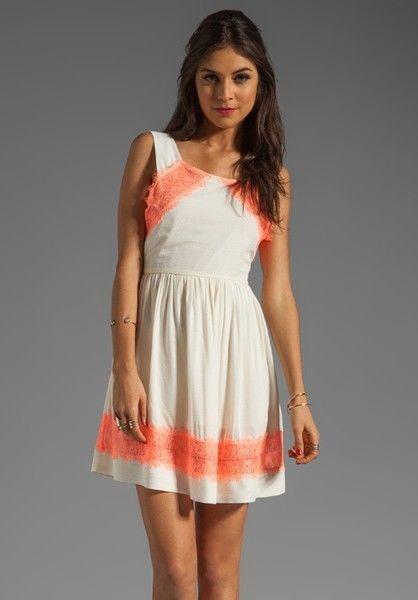 NWT New Free People Georgia Lace Dress Cream orange Alabaster  98