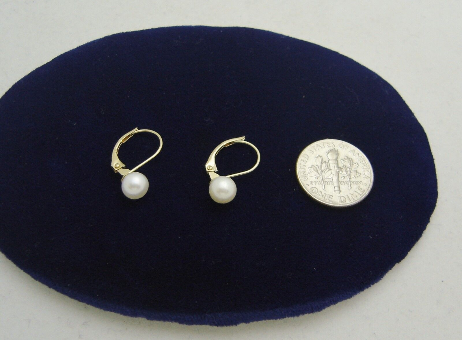 LUMINESCENT   14K YELLOW gold PEARL EURO WIRE PIERCED EARRINGS N288-F