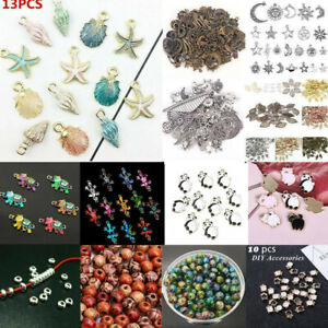 100Pcs-Mixed-Conch-Shell-Animal-Flowers-Beads-Charms-Pendant-Jewelry-Making-DIY