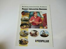1994 Cat Caterpillar Construction Product Application Crawler Tractor Brochure