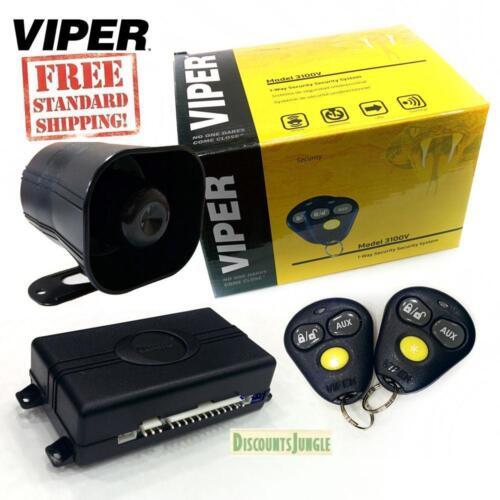 Viper 3100V One Way Car Security Alarm System W// 2 Remotes Shock Sensor /& Siren