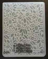 Sizzix Large 4.5x5.75in Embossing Folder CHRISTMAS LEAVES BERRIES fit Cuttlebug