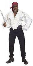 Rubie's Costume Pirates Of The Seven Seas White Satin Pirate Shirt - Adult XL