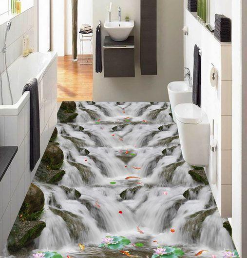 3D Gigante Papel Pintado Mural Parojo Cascada Piso impresión Calcomanía 5D AJ Wallpaper