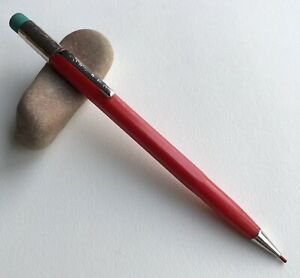 Vintage-Scripto-Mechanical-Pencil-Cherry-Red-Classic-EDC-Working-USA