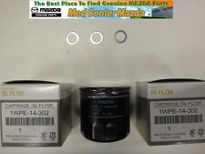 Mazda Skyactiv Technology 3 pack oil filters and 3 drain plug washers 1WPE14302