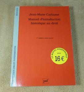 JEAN-MARIE-CARBASSE-MANUEL-D-039-INTRODUCTION-HISTORIQUE-DU-DROIT-PUF