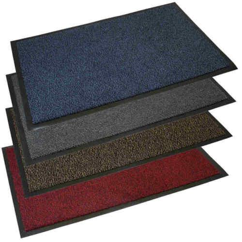 Grey Soft Pile Caoutchouc Adossés Paillasson Porte Tapis 40 x 60 cm