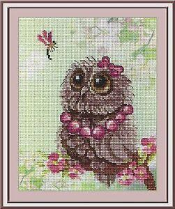 Winter Owlet Counted Cross Stitch Kit MP STUDIO