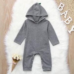 9aa493f3d Cute Newborn Baby Boy Cartoon Dinosaur Hooded Romper Jumpsuit Outfit ...