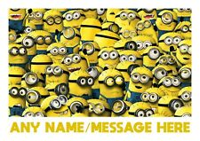 Dinner Mat Minions Despicable Me Personalised Kids Childrens A4 Placemat