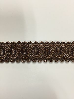 brown color Upholstery Trim Gimp sold by 5 yards,br-1023