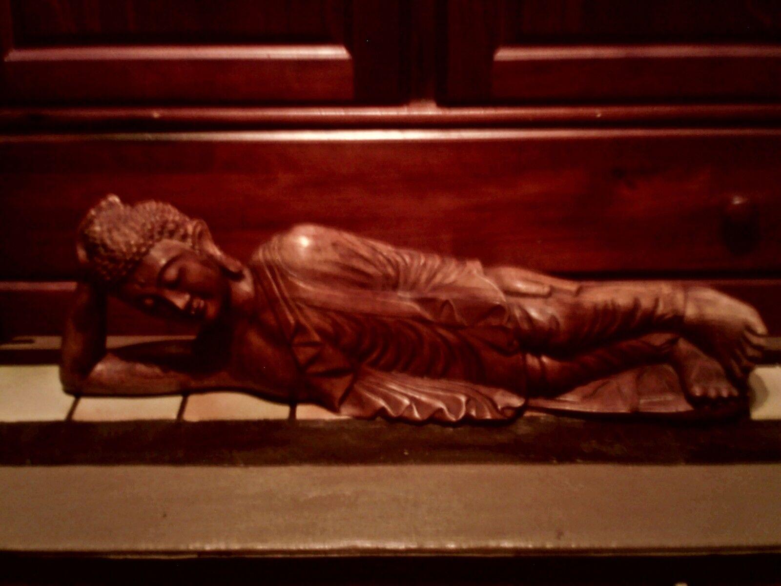 Statue bois sculpté - bouddha