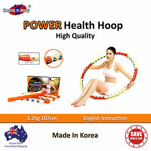 POWER-HEALTH-Hoola-Hula-Hoop-Diet-Massage-Exercise-Gym-Weighted-Fitness-Ring