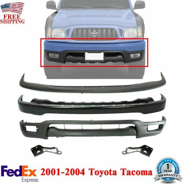 Front Bumper Primed + Filler + Valance + Brackets For 2001-2004 Toyota Tacoma