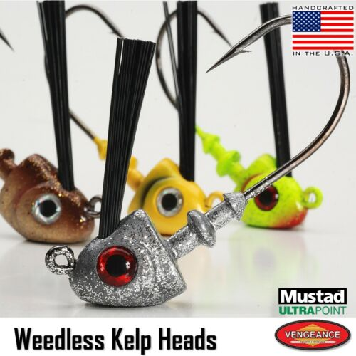 Red Snapper Phenix Baits Weedless Swimbait Jig Head 1//2 oz. 2-pack