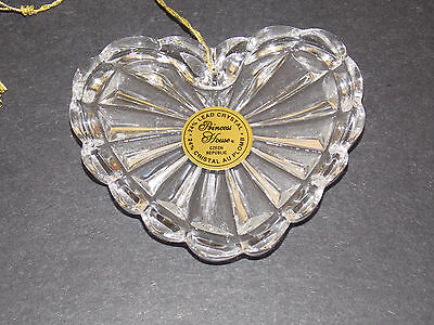 new in box Princess House lead crystal heart ornament