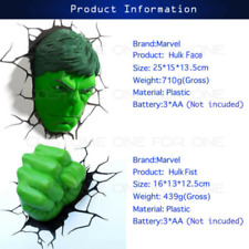 Hand 3D Deco Wall LED Night Light Avengers Spider Man Mask Head Face