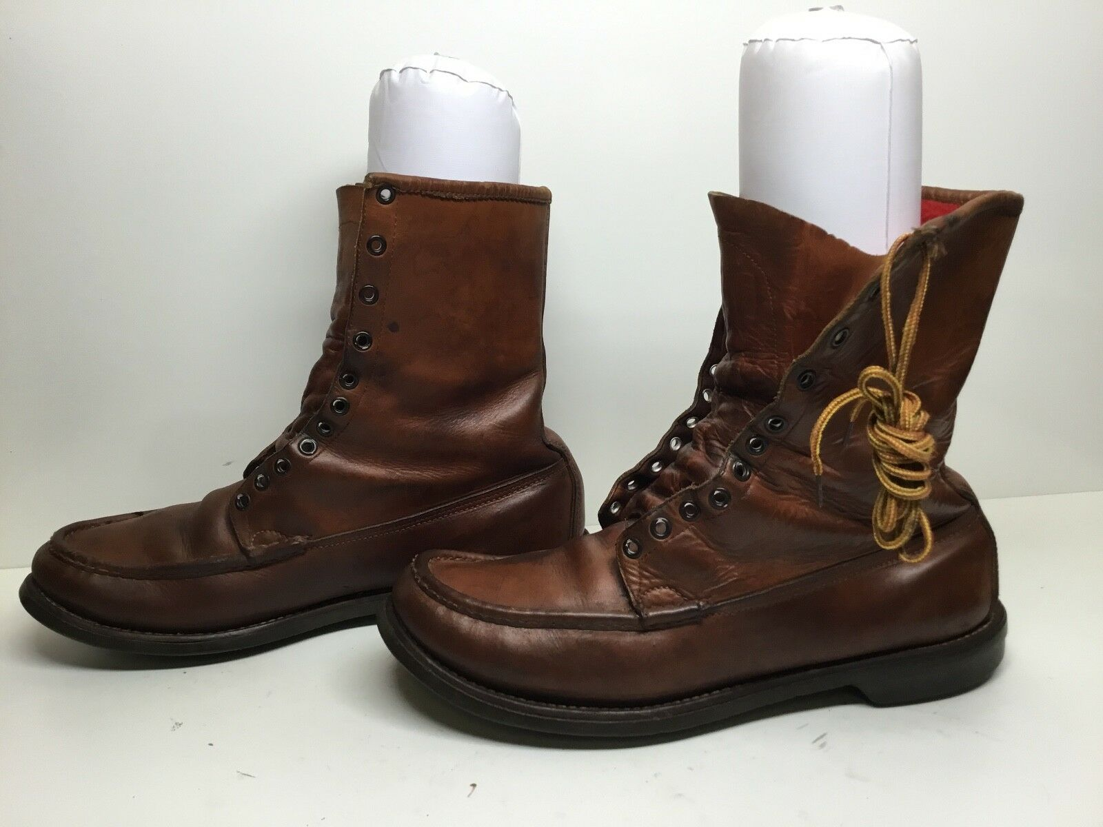 ROCKY Steel Toe, Gore-Tex Brown Leather Western Work Boots Men's Size 9 M