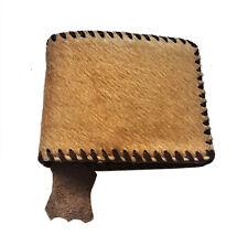 Montana West Genuine Leather Hair-on Western Cowboy Bi-fold Mens Wallet Tan