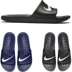 new concept 03632 bdeb9 Image is loading Nike-Kawa-Shower-Mens-Slides-Black-Navy