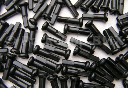 Bicycle 7075 alloy spoke nipples 14G gauge 2.0mm 16mm long 75 count BLACK
