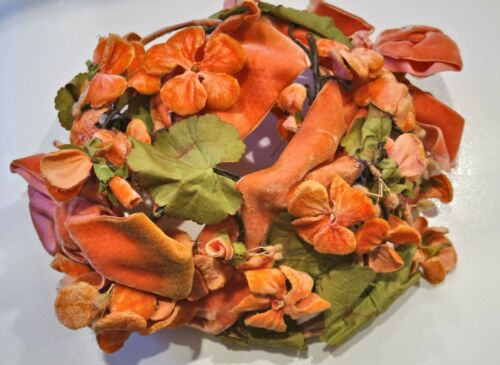 1930s Lilly Dache, Couture Geranium Hat