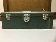 New Listingvintage Green Metal Union Utility Chesttoolbox As Is