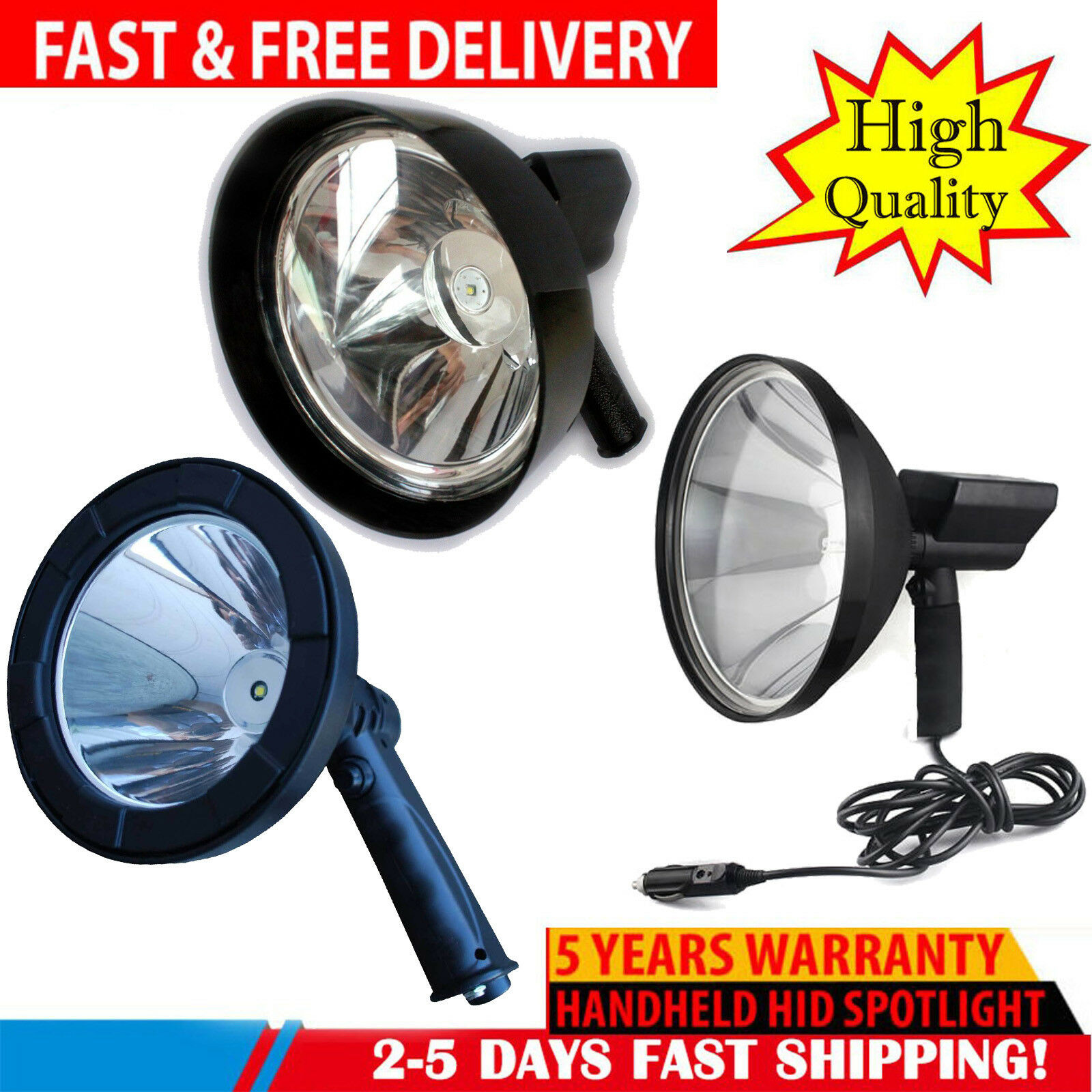 660W LED Spotlight Handheld Spot Light Waterproof Hunting Shooting Lamp T6 12V