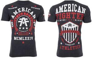 AMERICAN FIGHTER Mens T-Shirt DALTON Athletic BLACK Biker Gym MMA UFC $40