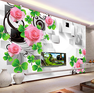 3D Thread Vines Flowers Paper Wall Print Wall Decal Wall Deco Indoor Murals