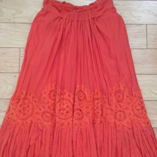 Sanoh Gauze Skirt By Floreat Various Sizes Tangerine Color NW ANTHROPOLOGIE Tag