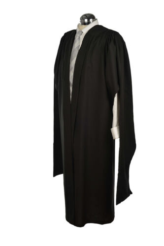 Masters Graduation Gown University Fully Fluted Academic Robe MA