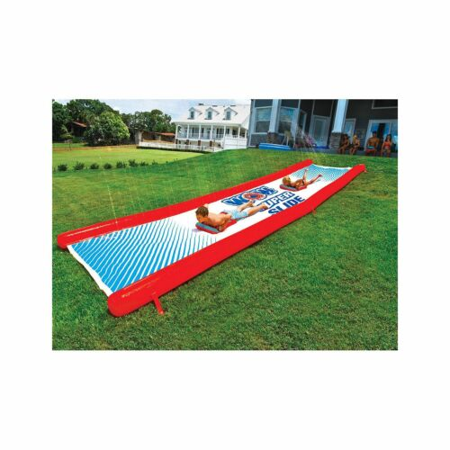 WOW Inflatable Giant Super Water Slip and Slide w/ Pump & 2 Sleds 25' x 6' NEW
