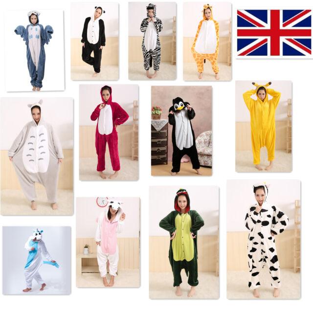 Animal Unisex Onesie Kigurumi Fancy Dress Costume Hoodies Pajamas Sleep wear UK