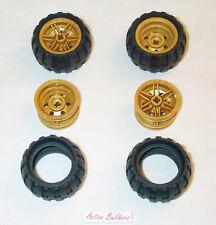 Lego Gold Wheels & Balloon Tires 43.2 mm 9444 Ninjago Chima