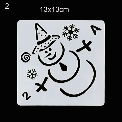Decorative Merry Christmas Layering Stencils PaintingTemplate Scrapbooking