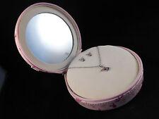Perfect Gift Playboy Swarovski Crystal Necklace/ Earrings set & Pink Vanity Case